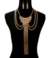 Wholesale Jewelry- Chain Layered Drop Necklace Set-1