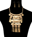 Wholesale Jewelry- Tribal Coin Statement Necklace Set-1
