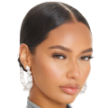 Wholesale Accessories- Silver Graduated Crystal Hoops-1