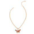 Wholesale Supplier- Red and Green Flutter Mini Butterfly Necklace-2