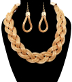 Wholesale Supplier- Twisted Necklace Set-1