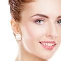 Wholesale Accessories- Curved Rhodium Plated Clip Earring0