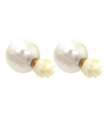 Wholesale Jewelry- Flower Two Studs Earrings-1