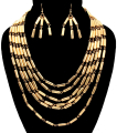 Wholesale Accessories- Beads Chain Necklace Set-1