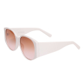Wholesale Jewelry- White Rounded Wide Arm Sunglasses-1