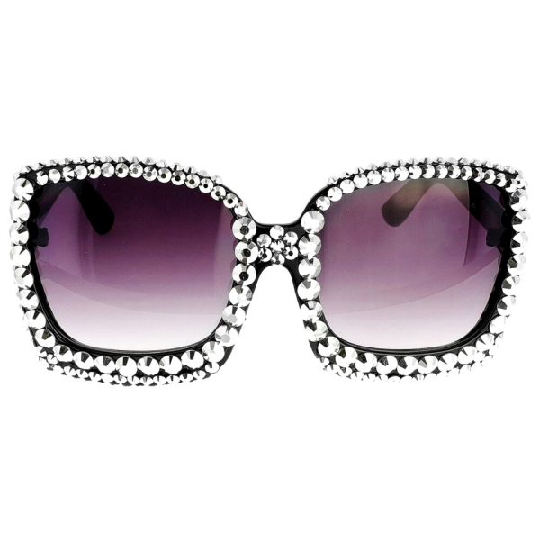 Wholesale Supplier- Sparkly Silver Square Cat Eye Sunglasses-2