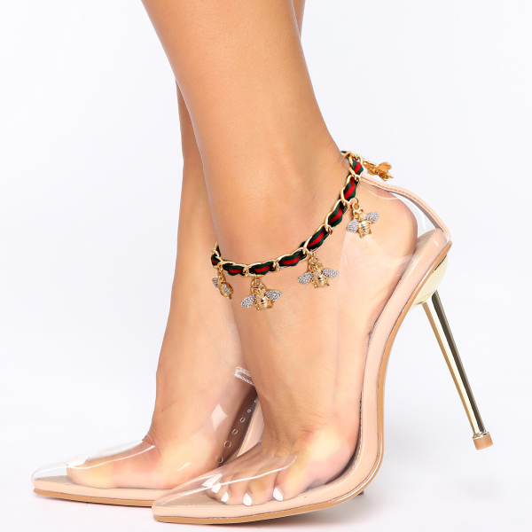 Wholesale Accessories- Gold Bee Charm Anklet-1