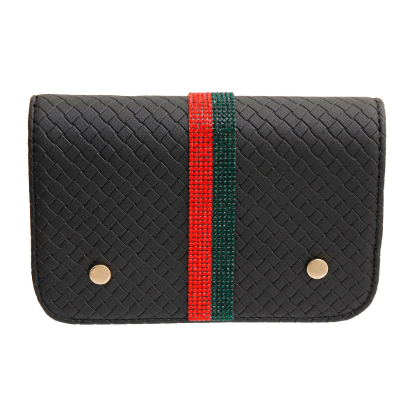 Wholesale Jewelry- Gucci Style Black Quilted Waist Bag-2