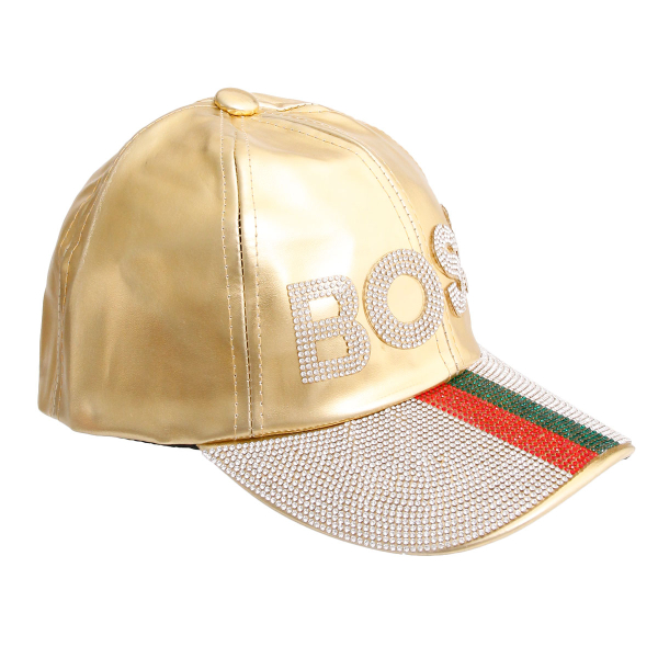 Wholesale Accessories- Gucci Style Gold BOSS Cap-2