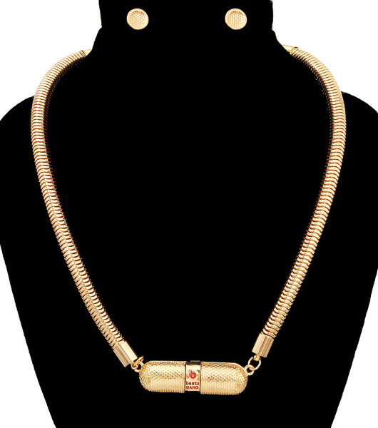 Wholesale Jewelry- Beats By Bang  Speaker Necklace Set-1